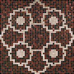 Linear De Rosas Marron mosaic | Glass mosaics | Bisazza