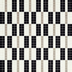 Alternance Noir & Blanc Mosaic | Mosaicos de vidrio | Bisazza
