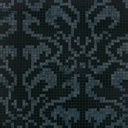 Damasco Black mosaic | Glass mosaics | Bisazza