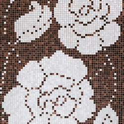 Winter Flowers Oro Nero mosaic | Glas-Mosaike | Bisazza