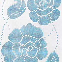 Winter Flowers Blue mosaic | Glass mosaics | Bisazza