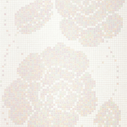 Winter Flowers Bianco mosaic | Glass mosaics | Bisazza