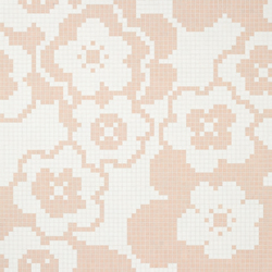 Garden Pink mosaic | Glas Mosaike | Bisazza