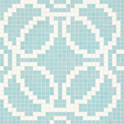 Circles Blue mosaic | Glass mosaics | Bisazza