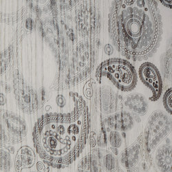 Carving Paisley I brushed | white oil | Wood panels | mafi