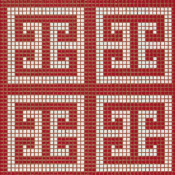 Key White Red mosaic | Mosaïques verre | Bisazza