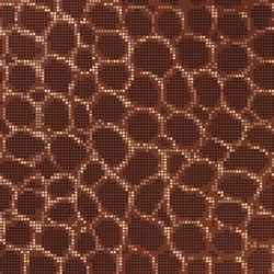 Crocodile Brown mosaic | Glas Mosaike | Bisazza