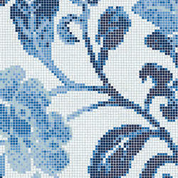Summer Flowers Blue A mosaic | Glass flooring | Bisazza