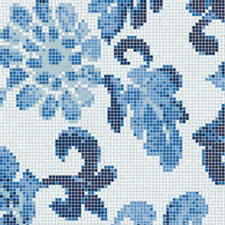 Summer Flowers Blue B mosaic | Mosaïques verre | Bisazza