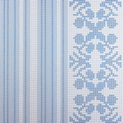Wallpaper Blue mosaic | Glass flooring | Bisazza