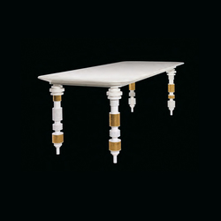 Engine white table | Mesas comedor | Bisazza