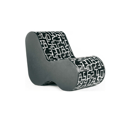 Single Soft Mosaic Data Black | Loungesessel | Bisazza