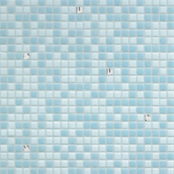 Opus Romano | Azzurra Oro Bianco | Mosaïques carrées | Bisazza