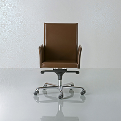 Alfa Swivel armchair high back | Chaises cadres | Enrico Pellizzoni