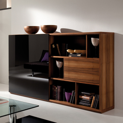 Rooming walnut black | Credenze | die Collection