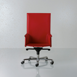 Pasqualina Swivel armchair high back | Management chairs | Enrico Pellizzoni