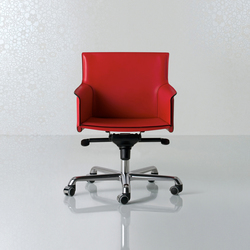 Pasqualina Swivel armchair low back | Office chairs | Enrico Pellizzoni