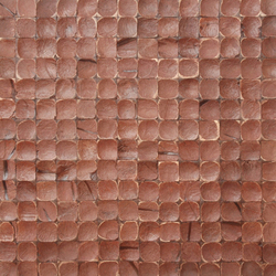 Cocomosaic tiles brown luster 02-25 | Mosaïques en coco | Cocomosaic