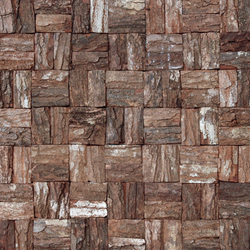 Cocomosaic wooden bark mosaic tiles square | Holzmosaike | Cocomosaic