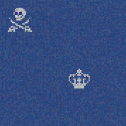 Skulls & Crowns Blue | Mosaïques en verre | Bisazza