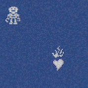 Hearts & Robots Blue | Mosaici in vetro | Bisazza