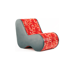 Single Soft Mosaic Data Red | Loungesessel | Bisazza
