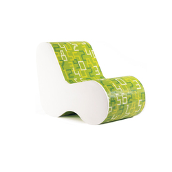 Single Soft Mosaic Data Green | Loungesessel | Bisazza