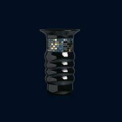 Organic Pixel | Black Openmichelin petit | Vases | Bisazza