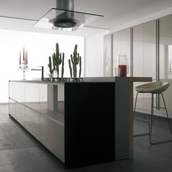 Artematica Vitrum I Bianco Nuvola | Island kitchens | Valcucine