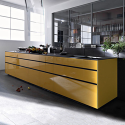 Artematica Vitrum I Giallo Terra | Fitted kitchens | Valcucine