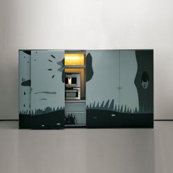 Artematica Vitrum Arte I Natura bianco e nero | Compact kitchens | Valcucine