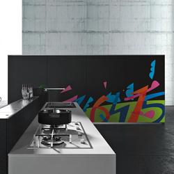 Artematica Vitrum Arte I Ugo Nespolo | Fitted kitchens | Valcucine