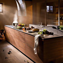 Artematica Noce Tattile | Fitted kitchens | Valcucine