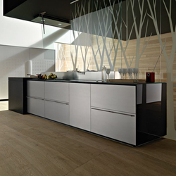 Artematica Multiline I Alluminio Finitura Acciaio | Fitted kitchens | Valcucine
