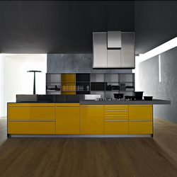 Artematica Multiline I Giallo senape | Fitted kitchens | Valcucine