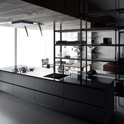 Riciclantica Laminato | Alluminio Rigato | Einbauküchen | Valcucine