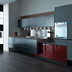 Riciclantica Alluminio I Verniciato Nero | Cucine a parete | Valcucine