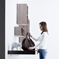 Living Divisum Wooden cube wall units | Shelving systems | Valcucine