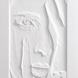 Frescata Graustufenfräsung mit Hinterleuchtung | Lastre minerale composito | Hasenkopf