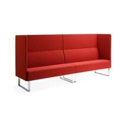 Monolite 2-seater sofa | Canapés d'attente | Materia