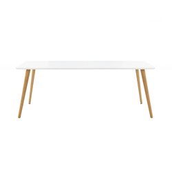 Gher h74 Rectangular top | Dining tables | Arper