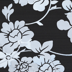 Flatline - Flowery Decor Black | Ceramic tiles | Kale