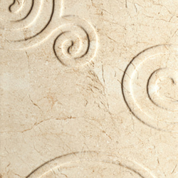Marfil - Spiral Decor Cream (2 Modules) | Carrelage mural | Kale