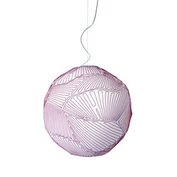 Planet suspension large white/red | General lighting | Foscarini