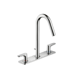 AXOR Citterio M 3-Hole Basin Mixer with plate DN15 | Wash-basin taps | AXOR