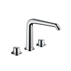 AXOR Bouroullec 3-Hole Basin Mixer 195 without pull rod DN15 | Wash-basin taps | AXOR