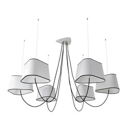 Nuage Chandelier 6 large | Ceiling suspended chandeliers | designheure