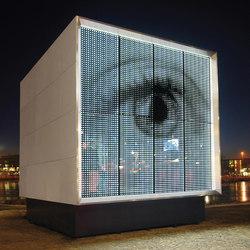 powerglass® media façade: Cube | Revestimientos de fachada | Peter Platz Spezialglas