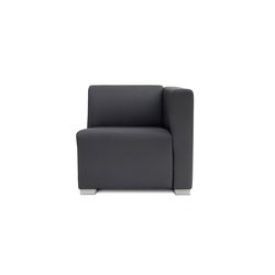 Square 1 Seat with 1 arm | Modular seating elements | Design2Chill