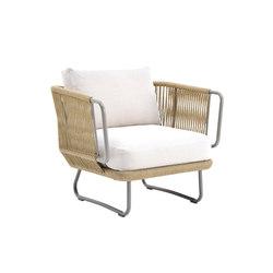 Babylon armchair with hand-woven design | Garden armchairs | Varaschin